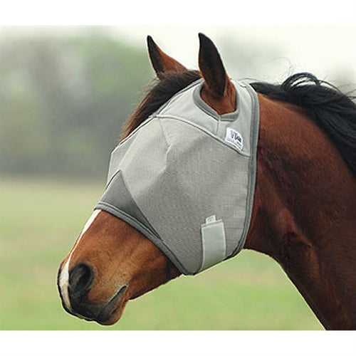 Cashel Crusader Standard Fly Mask w/o Ears, Horse/Grey