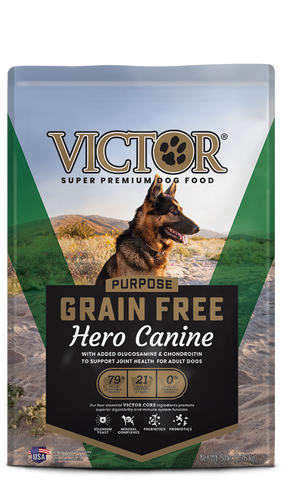 Victor Grain Free Hero Canine, Dog Food/Asst. Sizes