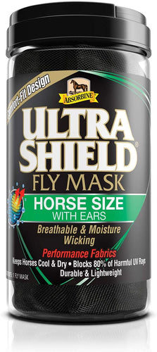 Absorbine Ultrashield Fly Mask with Ears, Horse