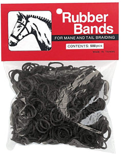 Black Rubber Bands, 500 Pack
