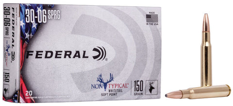 NEW! Federal Non-Typical .30-06 Springfield Ammo 150 Grain Soft Point, 20 Cartridges