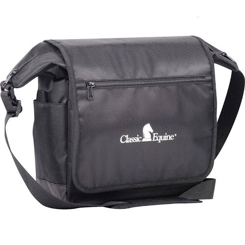 Classic Equine Messenger Bag, Black