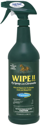 Farnam Wipe II Fly Spray with Citronella, 32 fl oz.