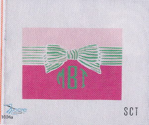 Bow Monogram Clutch