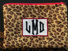 Load image into Gallery viewer, Clutch - Leopard Print Monogram