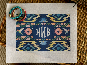 Clutch - Monogram Navajo