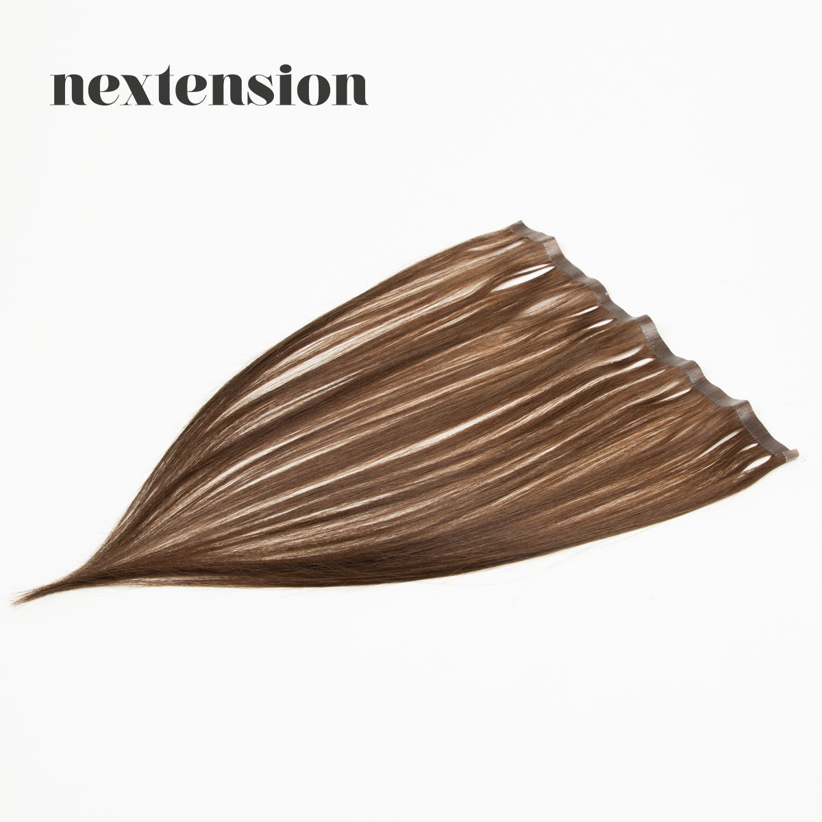 Nextension Tape-In Extension 35cm Loose Strip (30cm) Color #8 Light Hot Chocolate