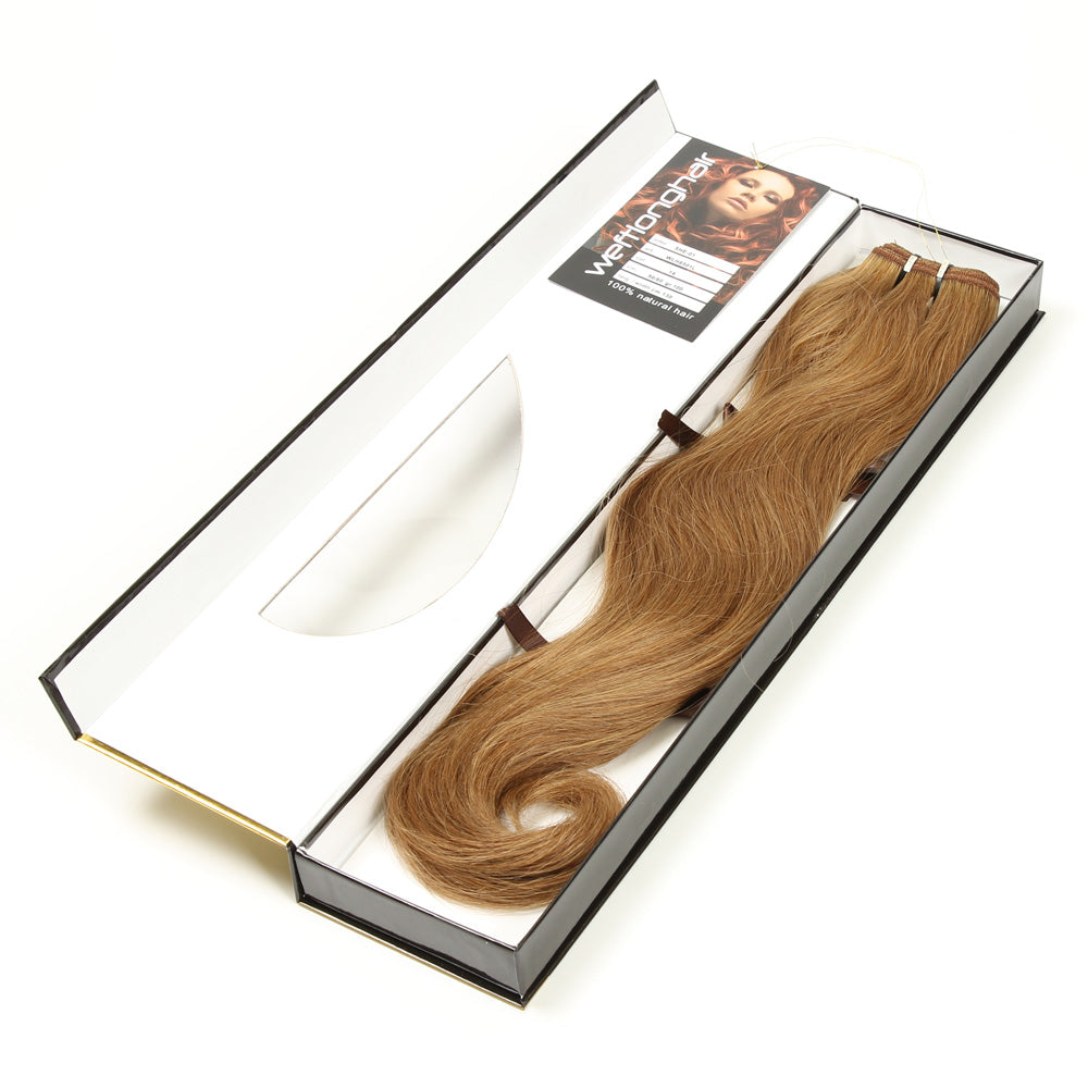 SHE Real Hair Weft Extension 50%55cm 100% Remy–Hair Color #14