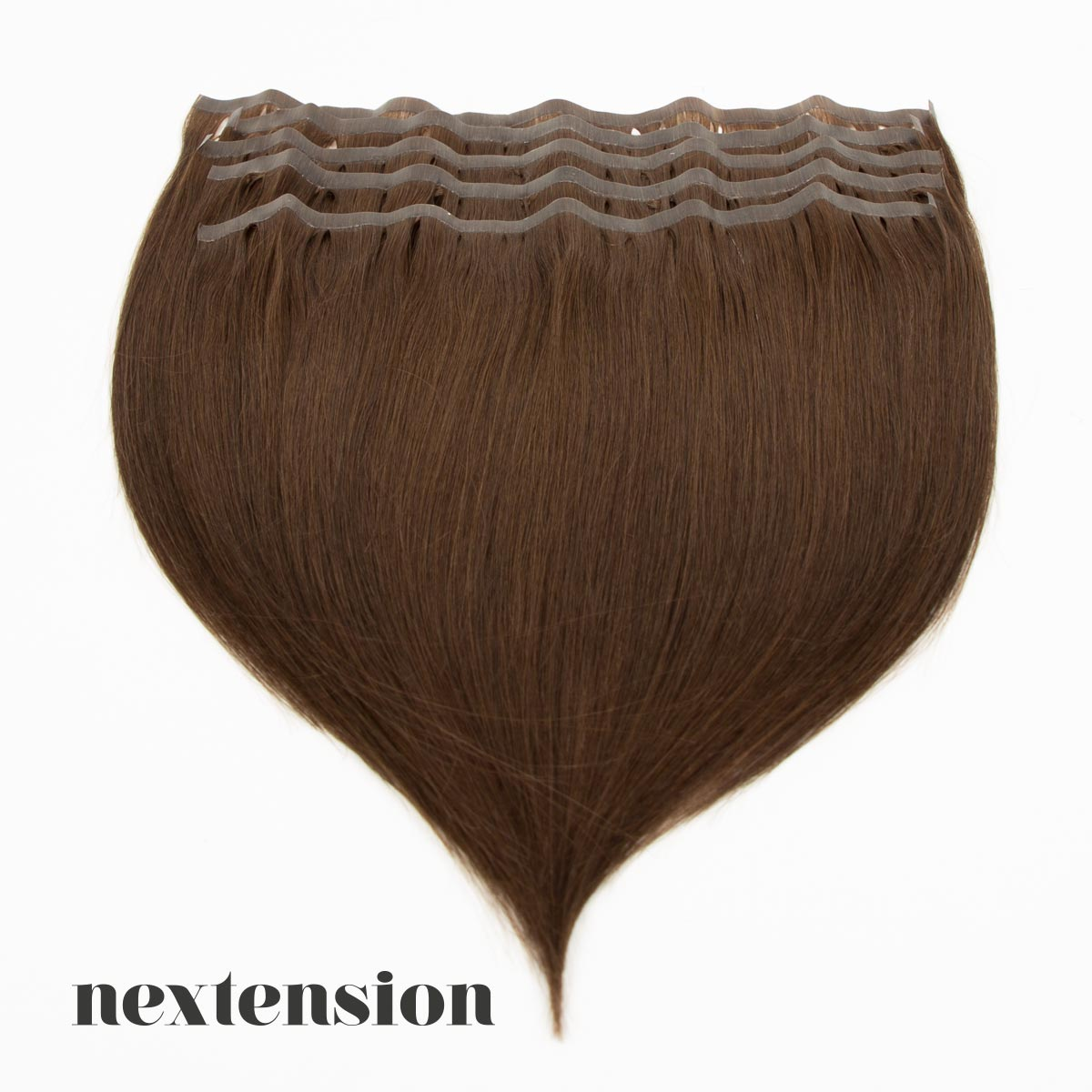 Nextension Tape-In Extension 100% Remy-Hair 35cm Color #3 Milk Chocolate