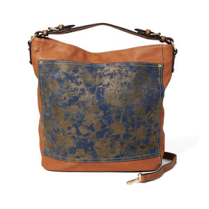Spirited Denim Patina Hobo
