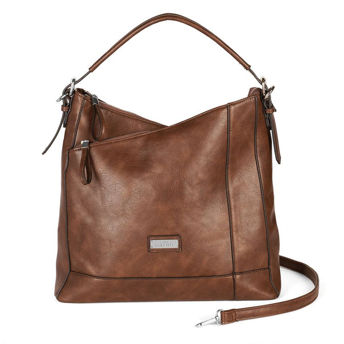 Moxie Asymmetrical Concealed Carry Hobo Handbag