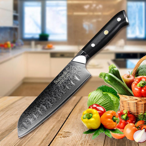 Image of 8PCS Kitchen Knife Set Steak Knives Damascus VG10 Steel