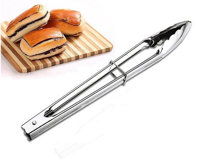 Cooking Tools - STAINLESS STEEL TONGS BBQ & Salad Cooking / Food Serving Utensil