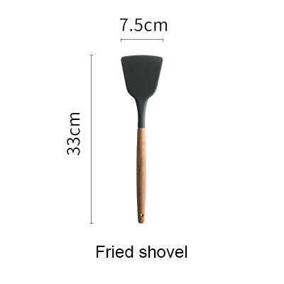 Image of Cooking Utensil Set - Silicone Spatula Heat-resistant Soup Spoon Non-stick Special Cooking Shovel Kitchen Tools