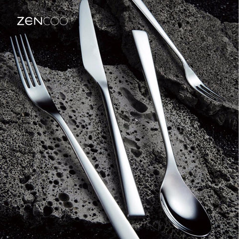 Image of Dinnerware - 24pcs Premium Stainless Steel Flatware Silver Cutlery Set