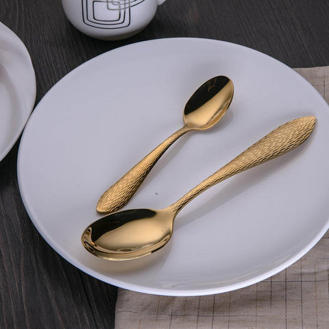 Image of Dinnerware - BERGLANDER Golden Stainless Steel Cutlery Dinnerware Set