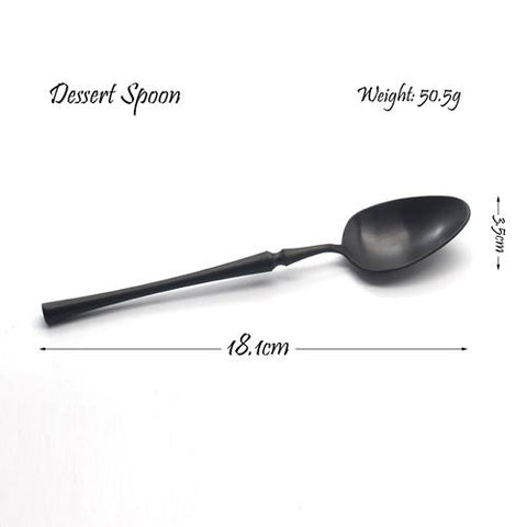 Dinnerware - Black Cutlery Dinnerware Set Stainless Steel Tableware