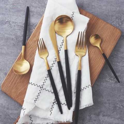 Dinnerware - Dinnerware Set Cutlery Dinnerware Stainless Steel Restaurant Quality Tableware