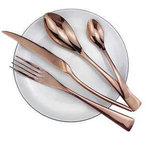 Dinnerware - Flatware Cutlery Set 18/10 Stainless Steel (Multiple Colors Options)