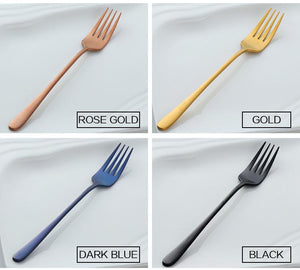 Long Handle 7pc Stainless Steel Forks Set