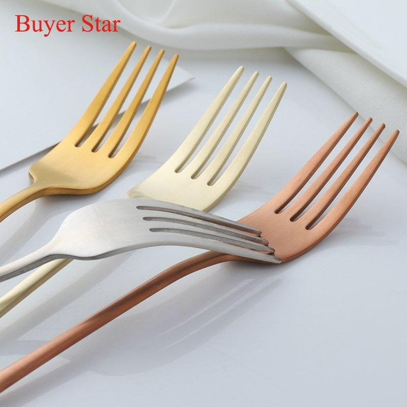 Dinnerware - Long Handle 7pc Stainless Steel Forks Set