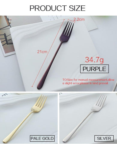 Image of Dinnerware - Long Handle 7pc Stainless Steel Forks Set