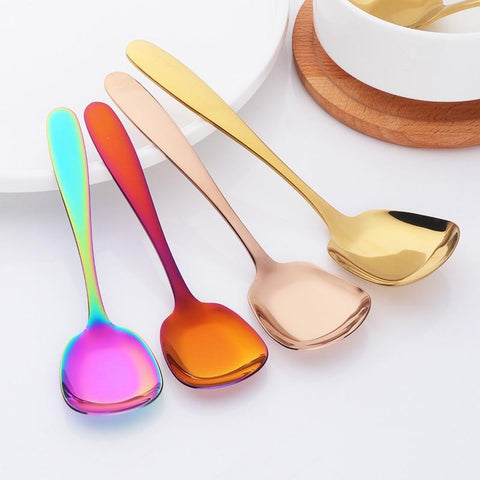 Dinnerware - Stainless Steel Flat Spoon 3 Pcs/Set