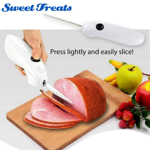 Electric Knife - Battery Powered Knife Easy Cut Cordless Stainless Steel Knife
