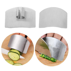Finger Guard - 1PC  Kitchen Finger Hand Protector Stainless Steel Knife Cutting Finger Protection