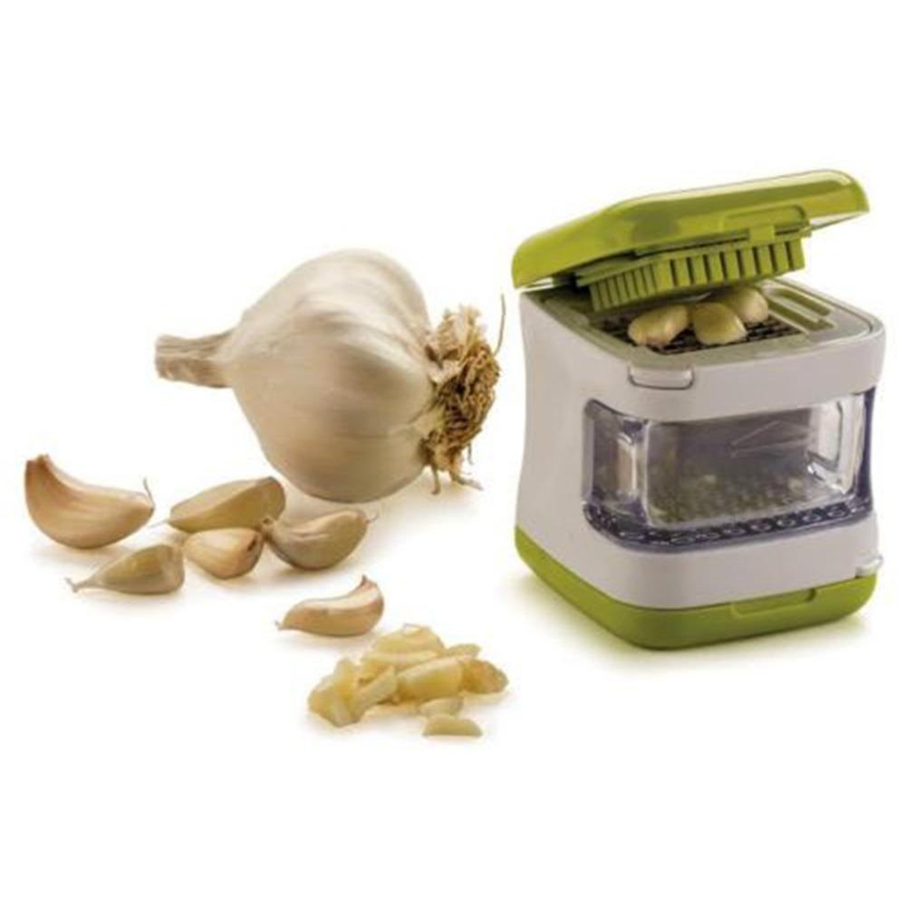 Garlic Press - Multi-function Fruit And Vegetable Presser, Crusher, Slicer,  Grater And Storage