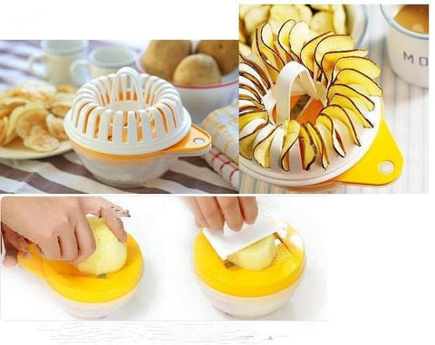 Image of Kitchen Gadget - 1PC All-in-one Microwave DIY Potato Chips Maker Healthy Home Cooking