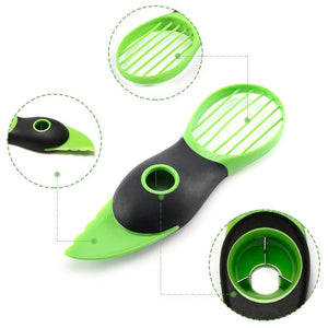 Kitchen Gadget - 3-in-1 Avocado Slicer Fruit Cutter Home Kitchen Tools