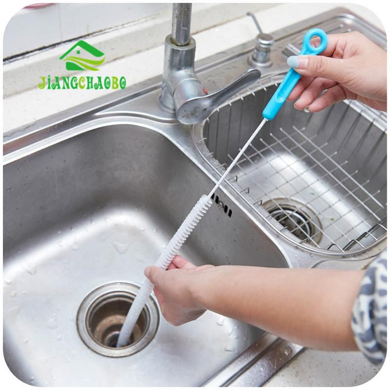 Kitchen Gadget - Drain Cleaning Brush, Home Bendable Sink Tub Dredge Pipe Snake Brush Tools