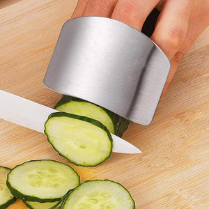 Kitchen Gadget - Finger Guard Protection Tool Stainless Steel