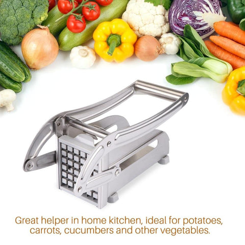 Kitchen Gadget - Potato Chips Making / French Fry Cutting Machine - Stainless Steel French Fry Potato Cutter