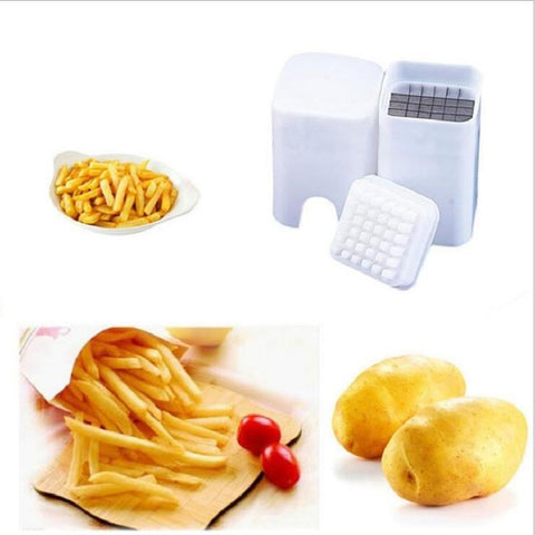 Image of Kitchen Gadget - Potato French Fry Cutter Perfect French Fry Making Free Shipping