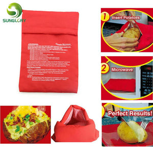 Kitchen Gadget - Red Potato Microwave Baking Potato Cooking Bag Washable Cooker Bag