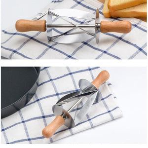 Kitchen Gadget - Rolling Cutter For Making Croissants - Dough Wheel Pastry Knife