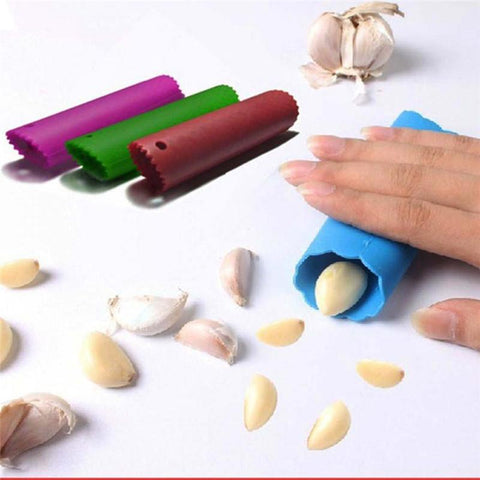 Image of Kitchen Gadget - Silicone Fast Garlic Stripper & Garlic Peeler Kitchen Gadget