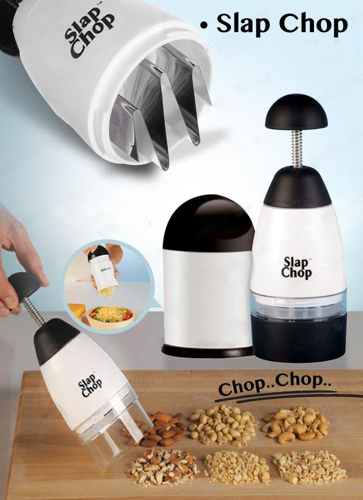Kitchen Gadget - Slap Chopper - ABS+Stainless Steel Easy Slicer Chopping Multi-function Kitchen Accessory