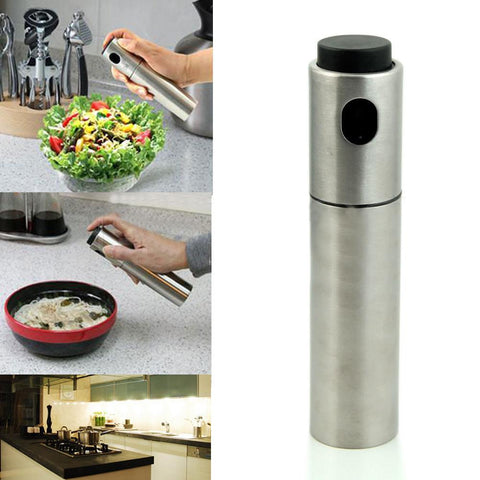 Image of Kitchen Gadget - Stainless Steel Oil Sprayer Kitchen Accessories Oil Pump Spray Bottle Oil Sprayer