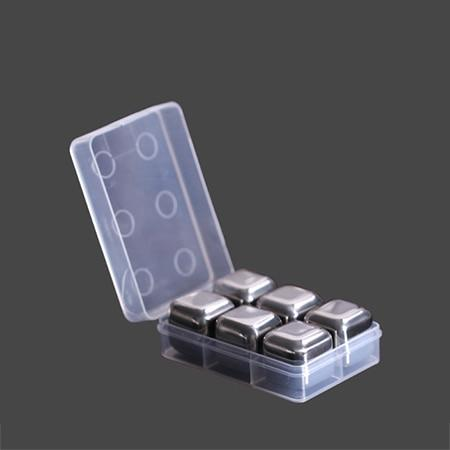 Image of Kitchen Gadget - Stainless Steel Whisky Ice Cubes - Reusable Whiskey Ice Cube