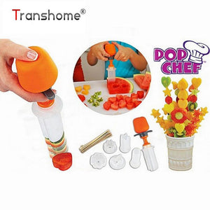 Kitchen Gadget - Vegetable Carving Pop Fruit Shape Cutter Fruit Mold Cake Decoration Flowers