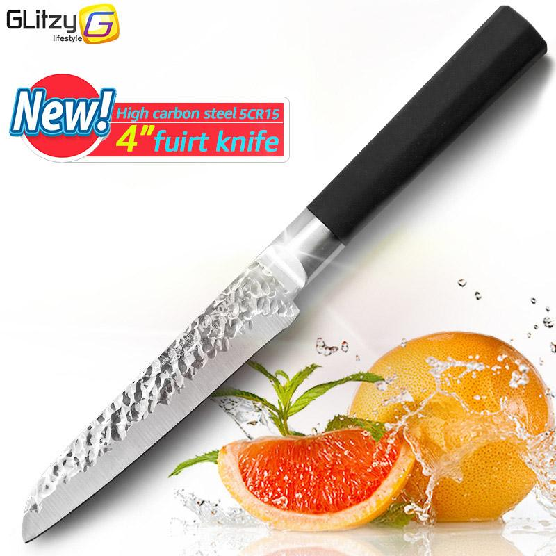 Kitchen Knife 4/7 Inch High Carbon Stainless Steel Chef Knife With Soft Anti-Slip Handle