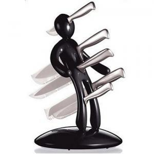 Knife Block - Novelty Kitchen Gifts Creative Humanoid Stainless Steel Magnet Knife Holder