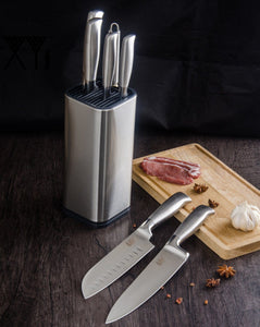 Knife Block - SOWOLL Stainless Steel Kitchen Knife Stand
