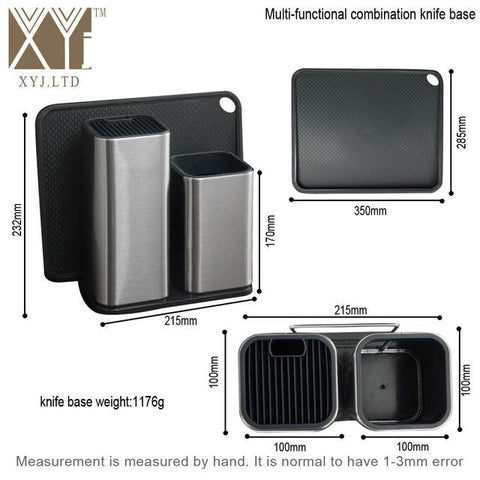 Image of Knife Block - Universal Knives Block Stainless Steel Knife Holder Big Capacity