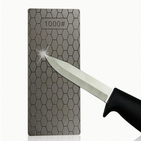 Image of Knife Sharpener - 1PC Portable Ultra-thin Diamond Sharpening Stone Honeycomb Surface Whetstone