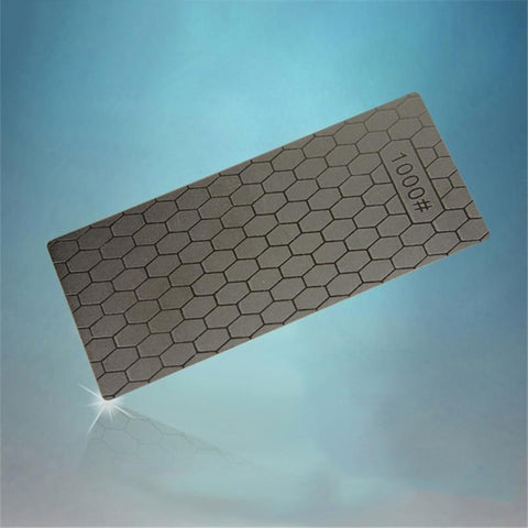 Knife Sharpener - 1PC Portable Ultra-thin Diamond Sharpening Stone Honeycomb Surface Whetstone