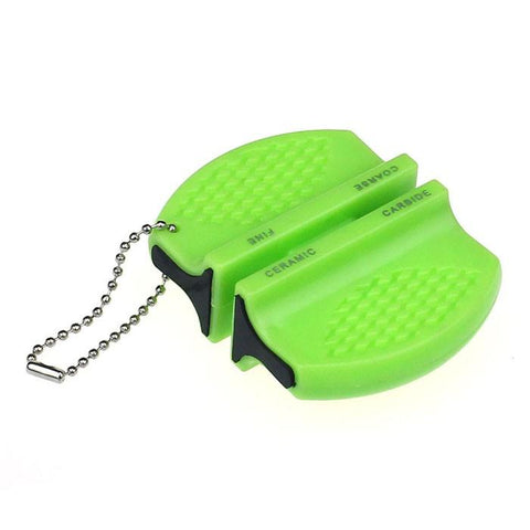 Image of Knife Sharpener - Mini Ceramic Carbide Knife Sharpener Kitchen Blade Pocket Sharpening Tool